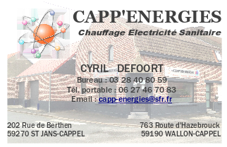 Carte de visite CAPP ENERGIES